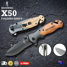 Browning X50 Folding Opening Pocket Knife Hunting Camping Survival Fishing