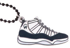 Good Wood NYC Concord 11's Sneaker Necklace White/Black XI Shoes Kicks