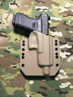 FDE Kydex Holster for Glock 19 23 32 Threaded Barrel
