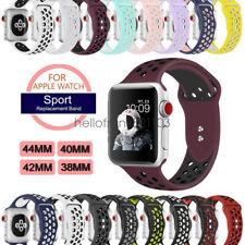 Silikon Ersatz Band Sport Armband für Apple Watch Series 6 5 4 3 2 44/42mm 40/38