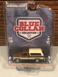 Greenlight Blue Collar Collection 1979 Ford F-150 Camper Shell 1/64 Brown