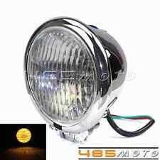 Cool Bates Style Front Light 4.5 inch Headlight Lamp For Harley Chopper Bobber