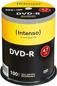 Intenso DVD-R 16x Speed 4,7GB 100er  DVD-Rohlinge