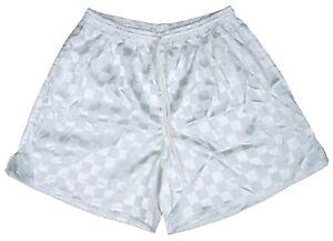 White Checker Polyester Soccer Shorts by High Five - Men's XL