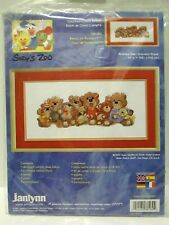 """NEW COUNTED CROSS STITCH KIT BEARS OF DUCKPORT JANLYNN 15""""x7"""""""