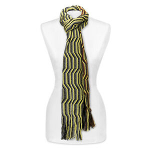 NEW Missoni Knitted Wool Blend Scarf Extra Large Green