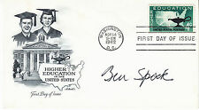 New listing Benjamin Ben Spock (1903-1998) signed Fdc - autographed - Pediatrician