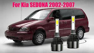 LED ForSEDONA 2002-2007 Headlight Kit H7 6000K White CREE Bulbs Low Beam