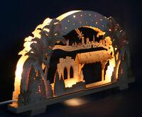 3D-Schwibbogen 52cm Leerbogen leer Christi Geburt Krippe Erzgebirge Lichterbogen