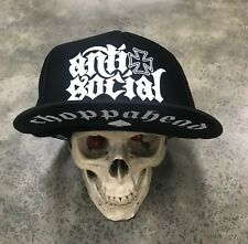 Choppahead Anti-Social Trucker hat w/ under brim logo - chopper, bobber, kustom
