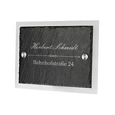 Schiefertafel Türschild Acrylglas inkl. Gravur Familienname Straße Hausnummer