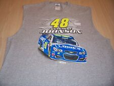 NASCAR JIMMIE JOHNSON SLEEVELESS GRAY T-SHIRT MENS XL EXCELLENT CONDITION