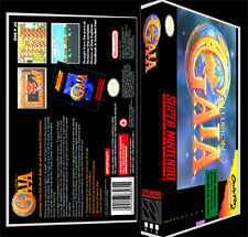 Illusion Of Gaia - SNES Reproduction Art Case/Box No Game.