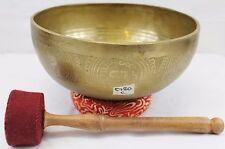"""E780 Root 'C' Chakra Healing Hand Hammered Tibetan Singing Bowl 9.5"""" MI Nepal"""