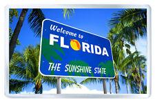WELCOME TO FLORIDA USA FRIDGE MAGNET SOUVENIR IMAN NEVERA