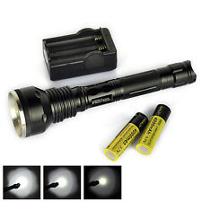 Hunting 4000Lumens 3 x XM-L T6 LED Flashlight 3T6 Torch 2X18650 Battery+Charger