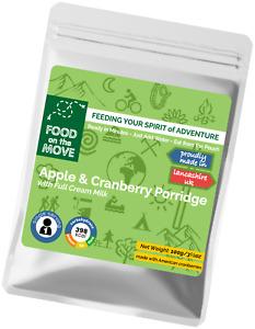 Lightweight Dehydrated Pouched Breakfast - Apple & Cranberry Porridge - 100g