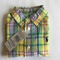 BNWT Baby Boys Polo Ralph Lauren Baby Boys Long Sleeves Shirt 3m,9m,12m,18m