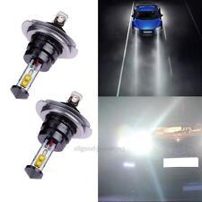 2X H7 20W 4 SMD High Power CREE Auto Car LED Bulb Driving Fog Light Headlamp
