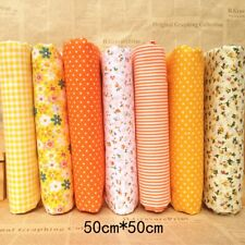 7PCS 50x50cm Fabric Bundle Cotton Patchwork Sewing Quilting Tissue Cloth Craft.*