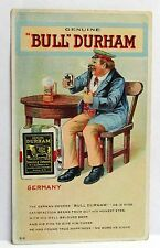 c. 1910 B-8 GERMANY Bull Durham tobacco TRIP AROUND THE WORLD postcard unused