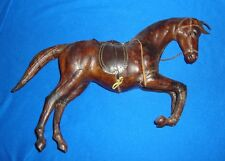 Vintage Leather and Paper Mache Horse Larger Size