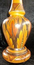 George Clews & Co Chameleon Ware Art Deco Hand Painted Signed Lamp Base  SALE