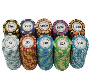 Monte Carlo Poker Chips - Roll of 25