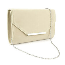 Envelope Flap-Top Silver-Tone Metal Bar Velvet Clutch Women Cross Body Handbag