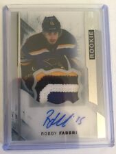 2015-16 UD Premier Robby Fabbri /375 Auto Sick Patch Rookie Upper Deck 15/16.