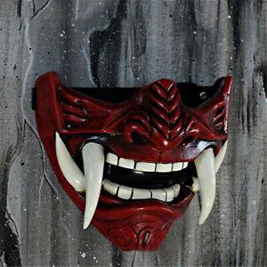 Japanese Monster Devil Hannya Mask Noh Demon Oni Samurai PVC Half Face Sheild