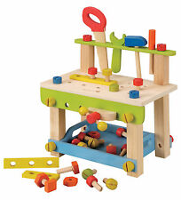 NEW EverEarth Childrens Wooden Toy Workbench with Tools & Accessories