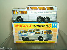 "MATCHBOX  LESNEY SUPERFAST MODEL No..66c   "" GREYHOUND COACH ""       MIB"