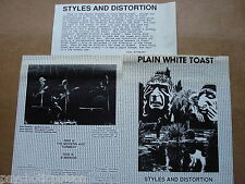 PLAIN WHITE TOAST - STYLES AND DISTORTION - the modern age + 2 Valentine SVR-027