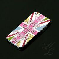 Apple iPhone 5s SE Hard Case Hülle Cover Etui Motiv Keep Calm And Carry On Fahne