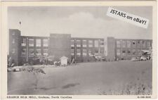 c. 1938 GRAHAM, NC, GRABUR SILK MILL POSTCARD