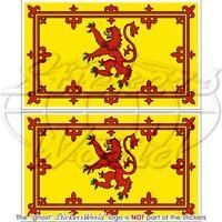 "SCOTLAND Royal Scottish Flag 75mm/3"" Bumper Stickers x2"