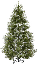 7ft Quality Snow Tip Frosted Christmas Tree NO Lights Frosted pear j28488