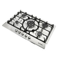 30'' Brand NEW Stainless Steel 5 Burner Cook top Built-In Stoves NG LPG Gas Hob