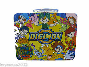 "5552 Digimon Tin Lunch Box 7.75"" x 6.00"" x 3.25"