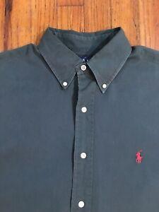 Ralph Lauren Blaire Green Button Down Dress Shirt Mens Long Sleeve Large / XL