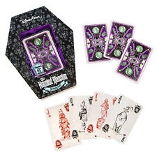 NEW! Disney Parks Glow In the Dark Haunted Mansion Playing Cards Set Coffin HTF!