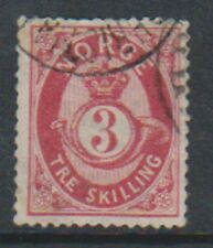 More details for norway - 1871/5, 3sk carmine-lake or carmine stamp - f/u - sg 38 or 39