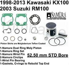 "2004-2010 STD BORE SUZUKI RM 125 53.96MM NAMURA TOP END REBUILD PISTON KIT /""B/"""