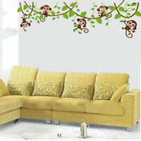 Removable Monkey Tree Wall Decal Stickers Kids Baby Nursery Room Decor Decal New