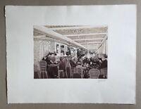 Herbert Grunwaldt, Cafe Parisien auf der Titanic, Farbradierung, 1985, signiert