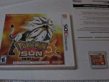 Pokémon Sun Nintendo 3DS 2016 game case gameboy Pokemon ESRB 2D RARE Everyone