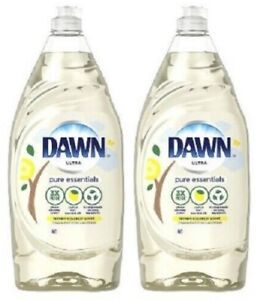 (2) Dawn Pure Essentials Dishwashing Liquid Dish Soap - Lemon Essence - 34 fl oz