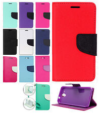 For HTC Desire 520 Leather 2 Tone Wallet Case Pouch Flip Phone Cover Accessory