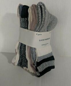 New Lucky Brand Women's Super Soft Boot Socks 6 Pair Size 4-10
